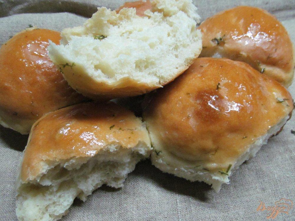 Фото приготовление рецепта: Чесночные булочки шаг №12