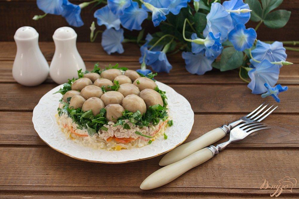 салат грибная полянка с корейской морковкой рецепт о