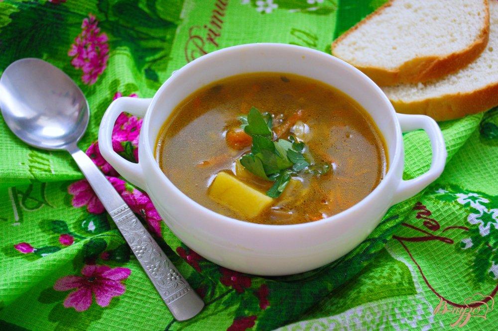 Фото приготовление рецепта: Грибной суп с орзо (ризони) шаг №6