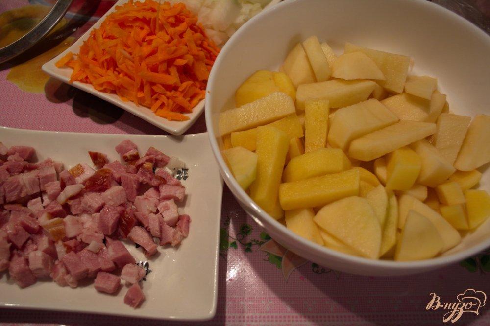 Фото приготовление рецепта: Гороховый суп-пюре  с беконом шаг №1