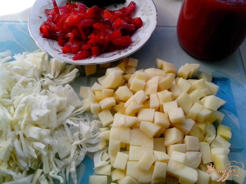 Фото приготовление рецепта: Борщ с говядиной и фасолью в мультиварке-скороварке шаг №5