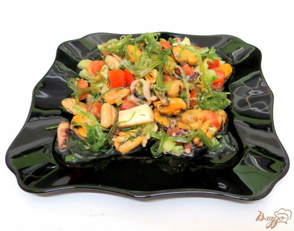 Фото приготовление рецепта: Салат морской шаг №6