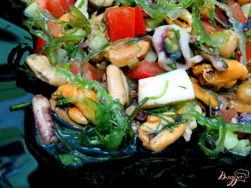 Фото приготовление рецепта: Салат морской шаг №5