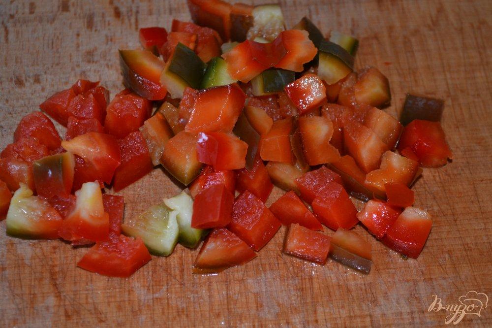 Фото приготовление рецепта: Постные блины с картофелем и зеленью шаг №6