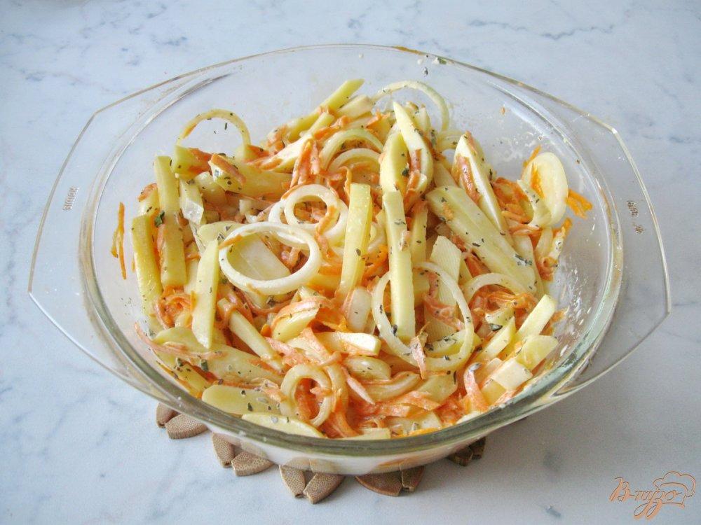 Фото приготовление рецепта: Картофель с тыквой в сливках шаг №5
