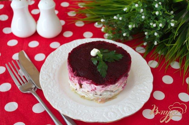 фото рецепта: Слоеный салат с языком