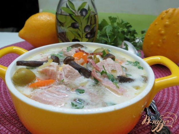 фото рецепта: Суп огуречный  ( Zupa z ogórków)