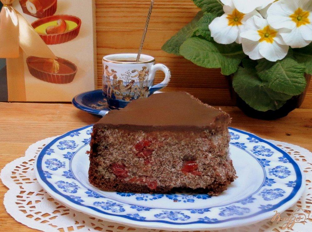 Фото приготовление рецепта: Торт  *Пьяная вишня* шаг №12