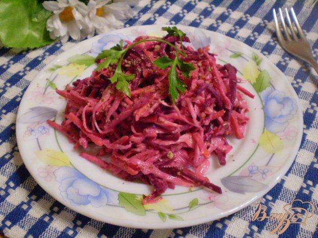 Корейский салат капуста со свеклой фоторецепт