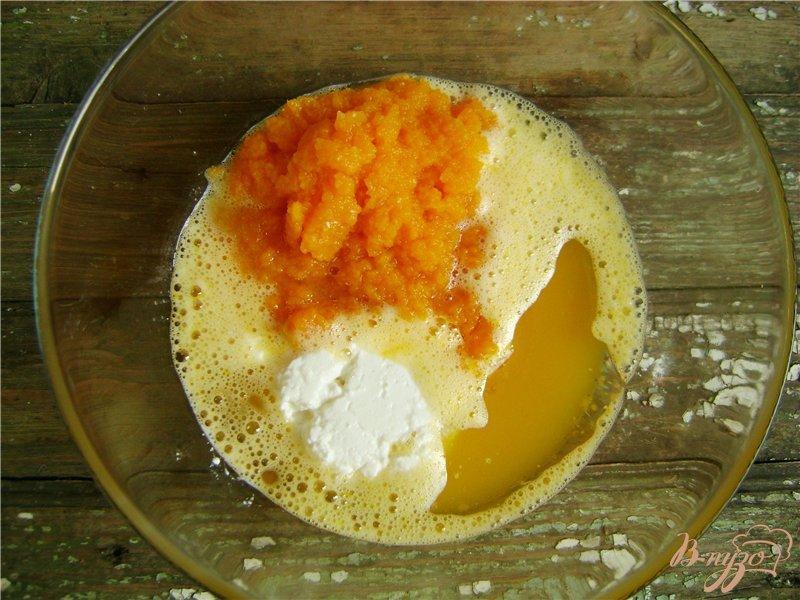 Фото приготовление рецепта: Тыквенное фигурное печенье шаг №2