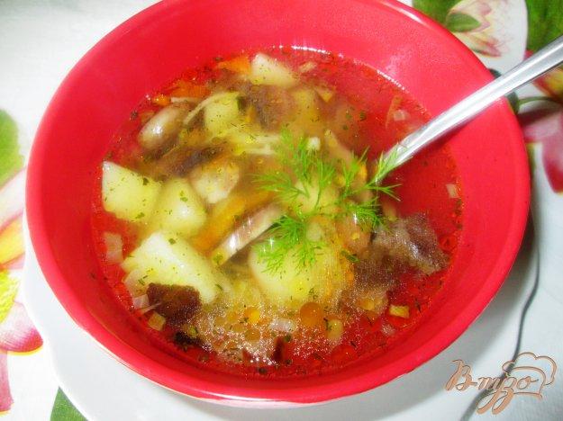 фото рецепта: Суп из шампиньонов с лапшой