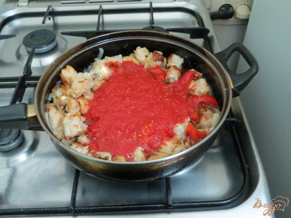 Фото приготовление рецепта: Фасоль со свининой шаг №7