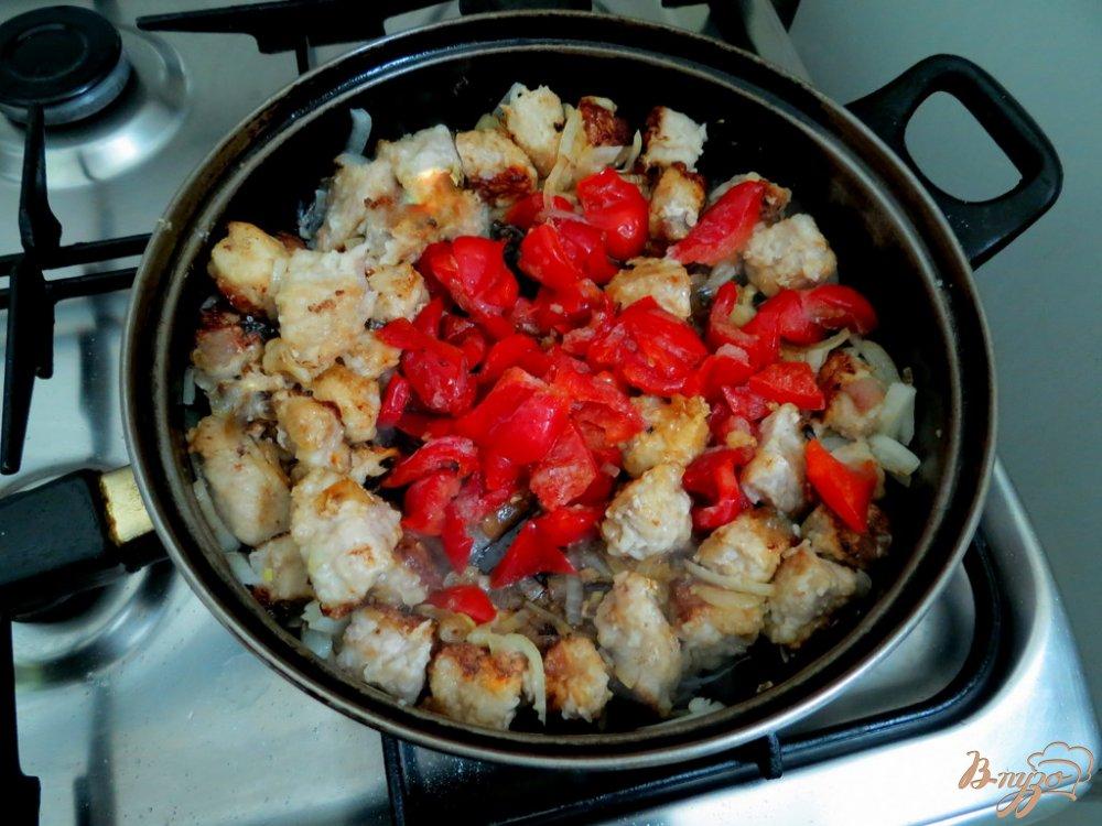 Фото приготовление рецепта: Фасоль со свининой шаг №6