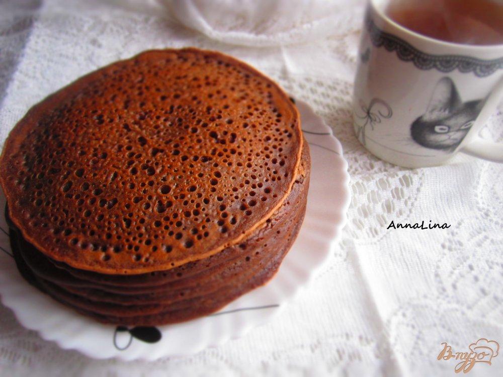 Панкейки шоколадные  с корицей