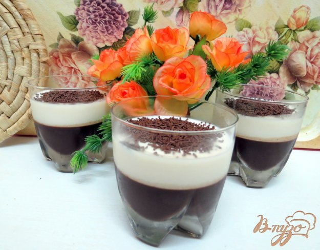 фото рецепта: Желе молочно-кофейное