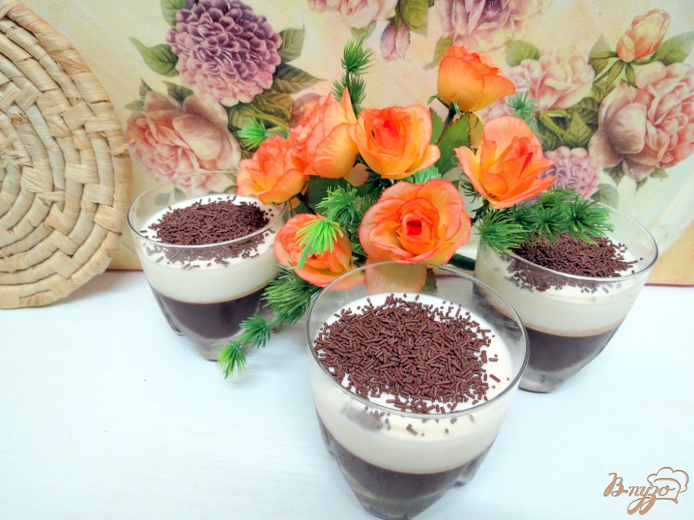 Фото приготовление рецепта: Желе молочно-кофейное шаг №8