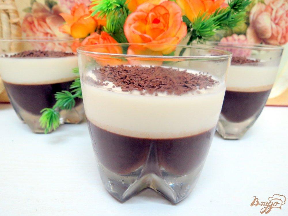 Фото приготовление рецепта: Желе молочно-кофейное шаг №7