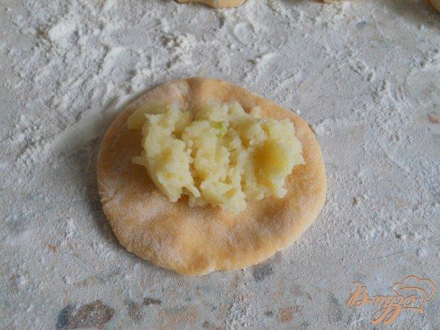 Вареники с картофелем из тыквенного теста