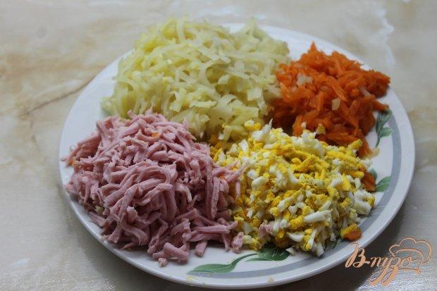 """Салат с маринованными белыми грибами """"Нежность"""""""