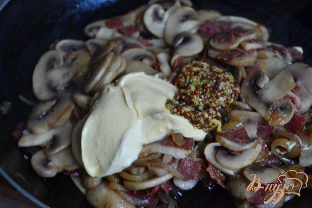 Горячие бутерброды с грибной начинкой