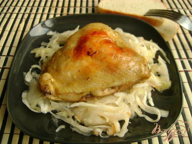 Куриные бедра в апельсиново-горчичном маринаде
