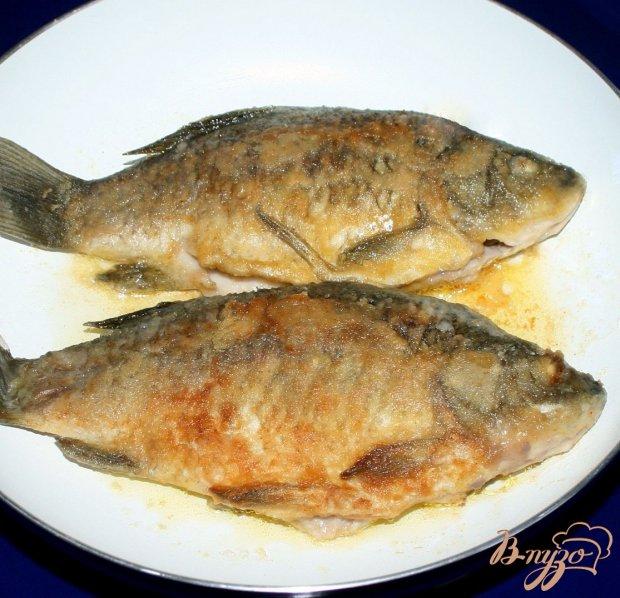 """Жареные караси с гарниром из риса,овощей и грибов """"Золотая рыбка"""""""