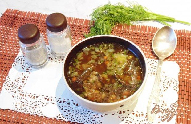 Суп с перловкой и лесными грибами