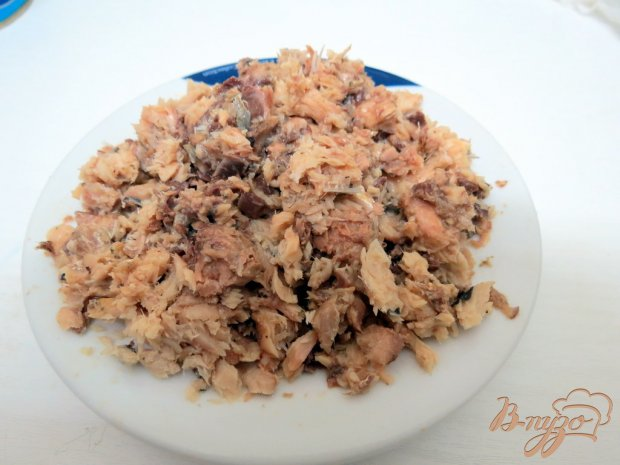 Салат из сардин с грибами