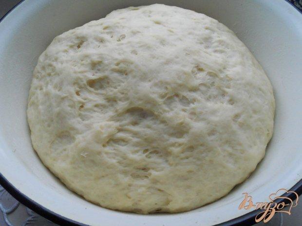 """Дрожжевой пирог с мясом и капустой """"Хризантема"""""""