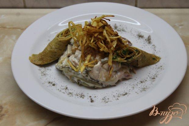 Салат с копченой курицей и картошкой пай