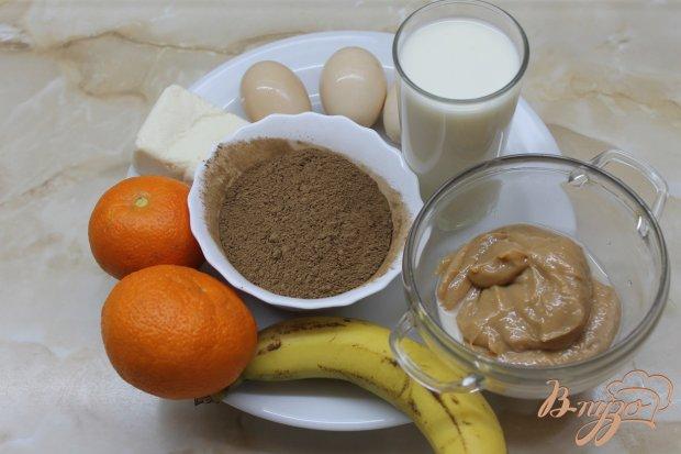 Шоколадные блинчики с сгущенкой и фруктами