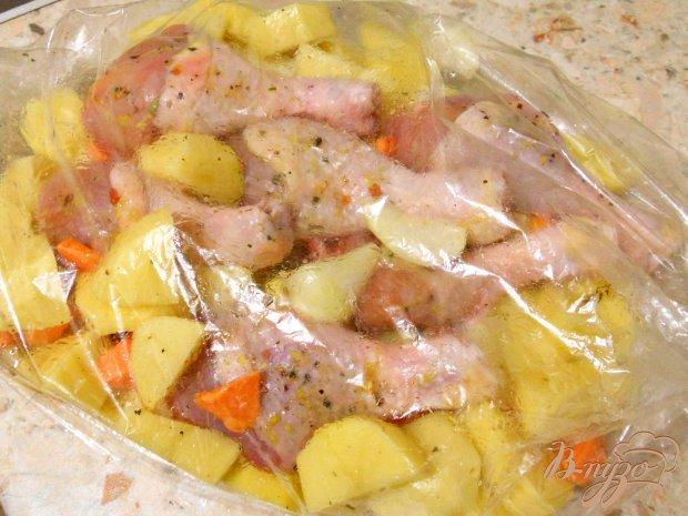 Куриные ножки с картофелем в рукаве