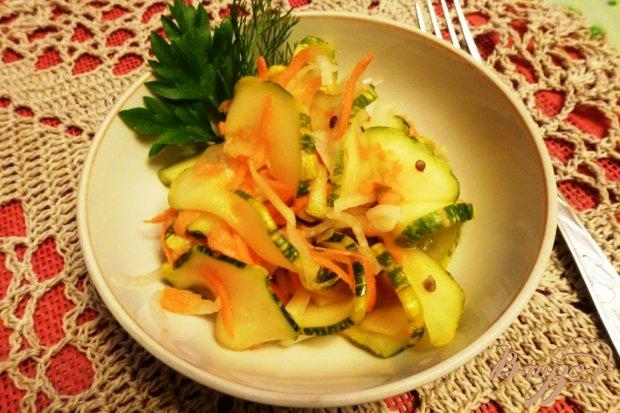 Маринованные кабачки с овощами