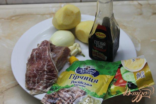 Рецепт Картофель со свининой запеченная в горшочке