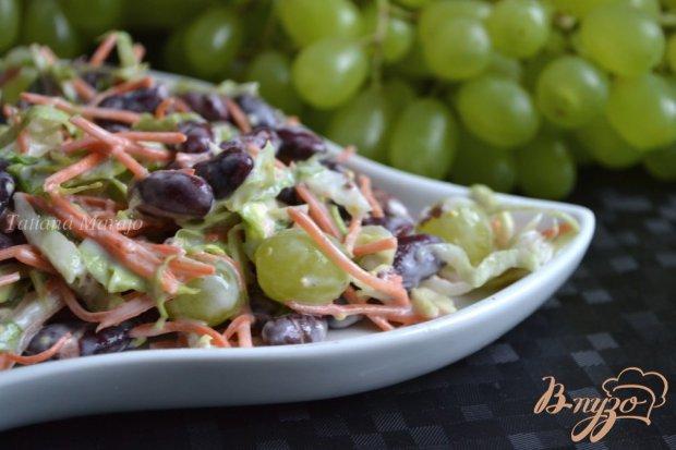 Салат с красной фасолью и виноградом