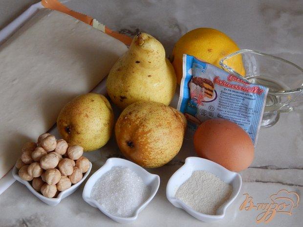 Рецепт Слойка с грушами и орехами