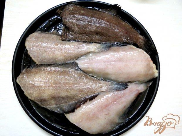 Рецепт Камбала под сметанно - грибным соусом