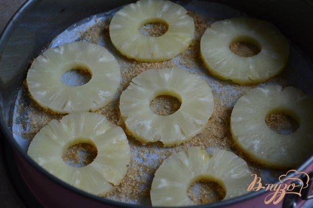 Шоколадная шарлотка с ананасом