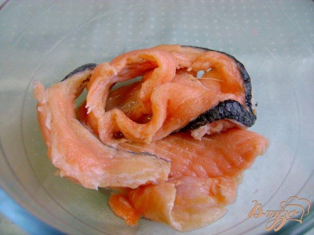 Рецепт Соленая теша семги
