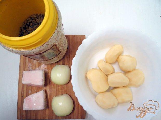 Рецепт Картофель жареный на сале в мультиварке