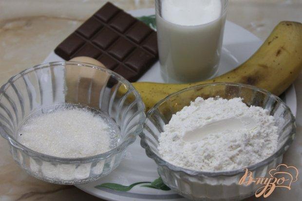 Рецепт Банановые оладьи с топленным шоколадом