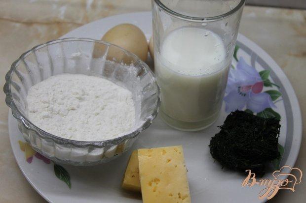 Рецепт Сырные блинчики с укропом и сметаной