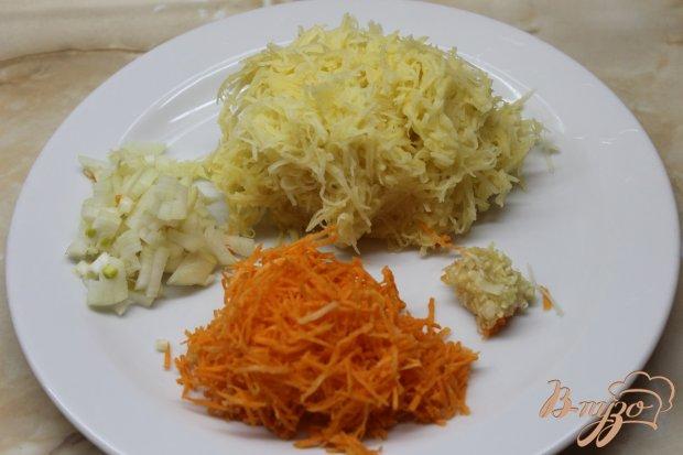 Овощные котлетки со свининой и сметаной