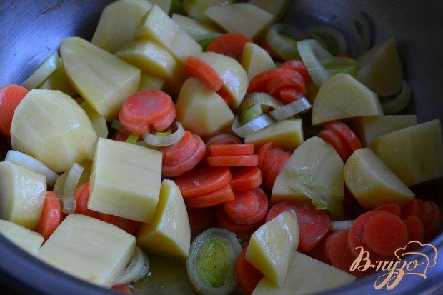 Легкий овощной суп со свежим шпинатом