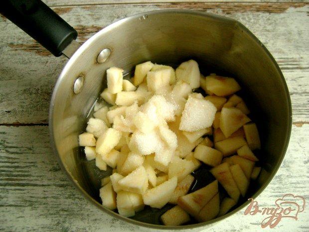Жареные дрожжевые пирожки с яблоками и шоколадом