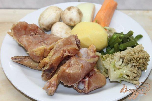 Рецепт Запеченная курица с овощным рататуем