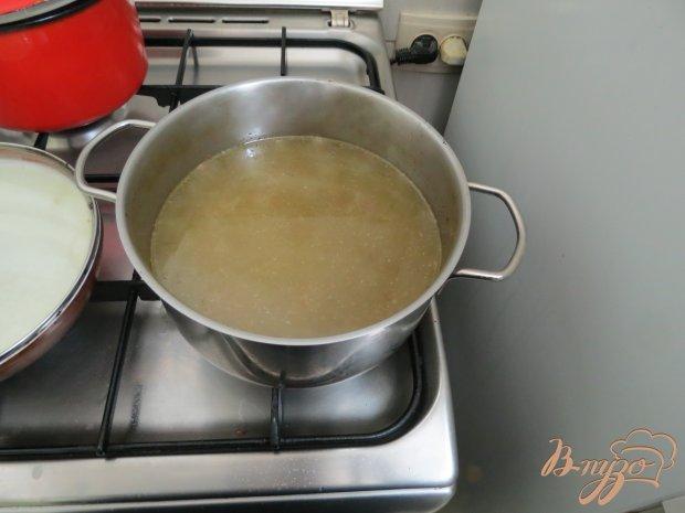 Суп со спаржевой фасолью и грибами