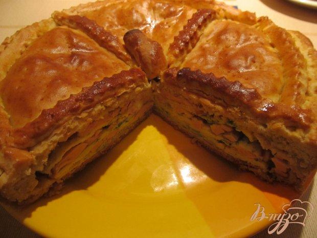 """Пирог """"Галета с омлетом, колбасой и сыром"""""""