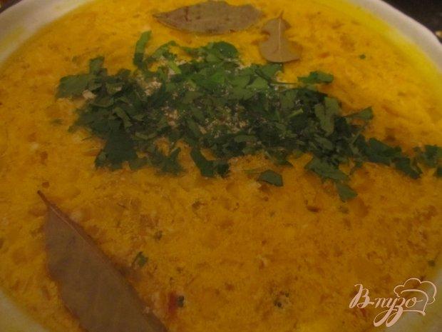 Сырный суп с грибочками