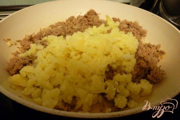Блины с мясом и картофелем
